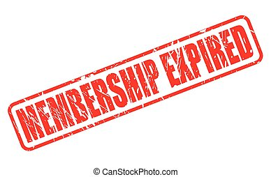 MEMBERSHIP EXPIRED red stamp text on white
