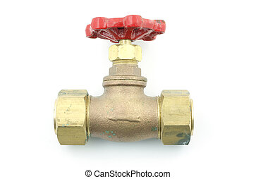 Water valve - All metal large diameter water valve with...