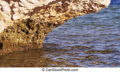 Clear Water in the Red Sea and Rock - Clear water in the Red...