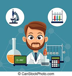 doctor medical equipment laboratory vector illustration eps...