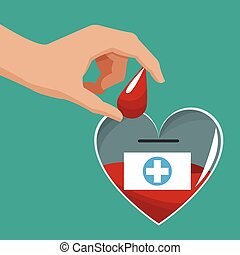 donate blood hand giving drop