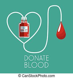 donate blood concept plastic bag transfusion vector...