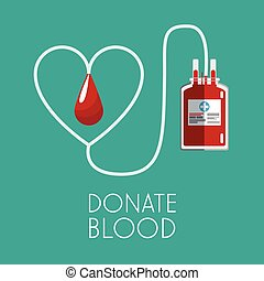 donate blood healthy care vector illustration eps 10