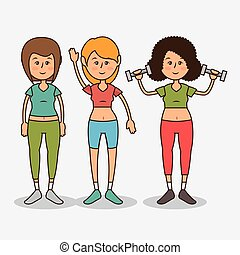 group people healthy lifestyle vector illustration design