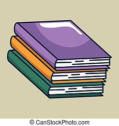 text books handmade drawing vector illustration design