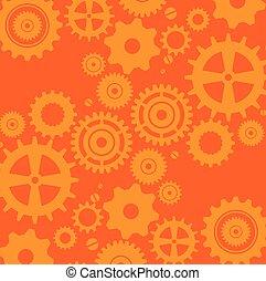 gears machine pattern background