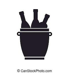 wine set bottles isolated icon