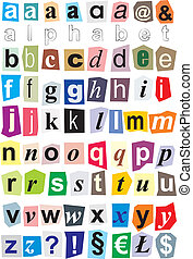 Alphabet - small letters - ration of small letters of the...