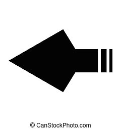 arrowhead - simple flat black arrowhead icon vector