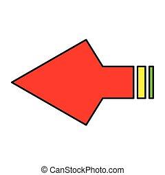 arrowheads - simple flat colour arrowheads icon vector