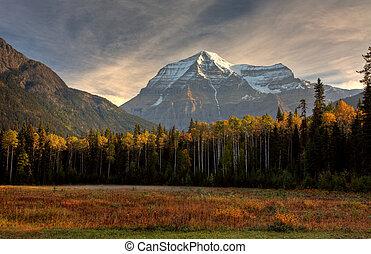 Mount Robson in autumn