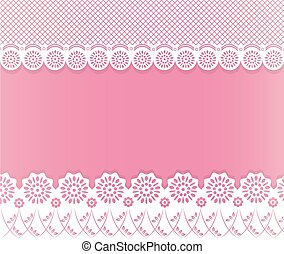 lace papercut background - lace floral, papercut for card or...