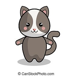 cute chipmunk kawaii style vector illustration design