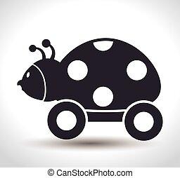 ladybug with wheels baby toy
