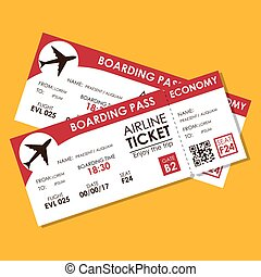 airline ticket flight icon