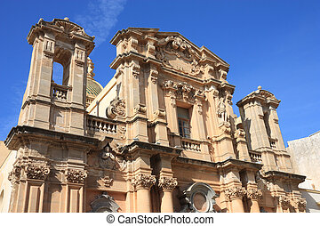 Marsala in Sicily, Italy. Old landmark - Chiesa del...