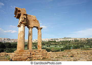 Ancient temple - Agrigento, Sicily island in Italy. Famous...