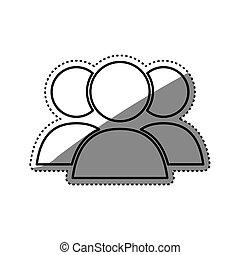 People teamwork symbol icon vector illustration graphic...