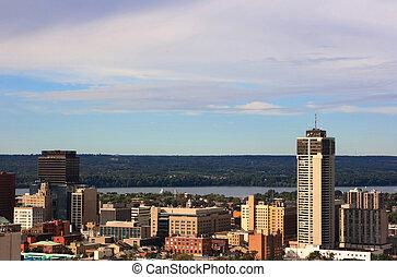 Hamilton central. - Still Picture of downtown Hamilton,...