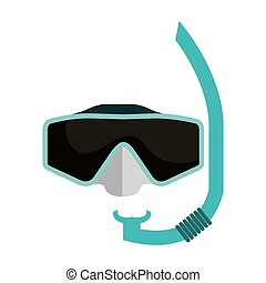 snorkel googles isolated icon vector illustration design