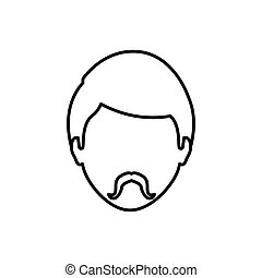 Man faceless head icon vector illustration graphic design