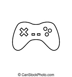 Gamepad device isolated icon vector illustration graphic...