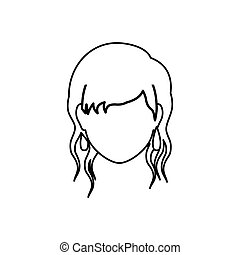 Woman faceless head icon vector illustration graphic design