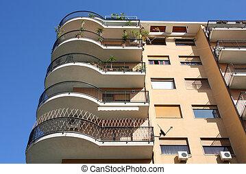 Apartment building - Generic contemporary apartment building...