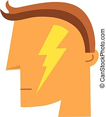 Electroconvulsive Therapy - ECT Icon - Concept Image for...