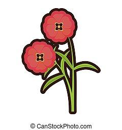 cartoon buttercup flower bloom spring vector illustration...
