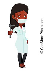 Ear nose throat doctor vector illustration. -...