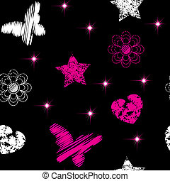 Seamless from emo symbols(can be repeated and scaled in any...