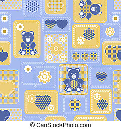 Seamless from hearts and bears