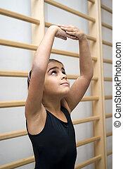 Cute ballet student