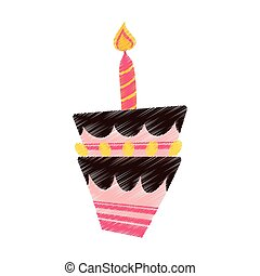 drawing birthday cake candle