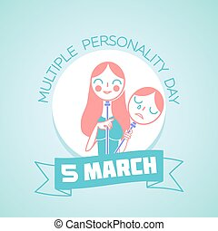 5 March Multiple Personality Day - Calendar for each day on...