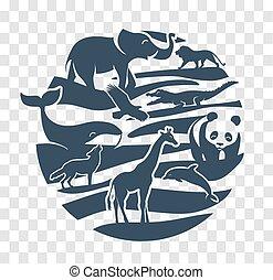 Icon  animal silhouettes black