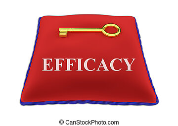 Efficacy concept - 3D illustration of 'EFFICACY' Title on...