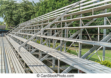 White metal grandstand