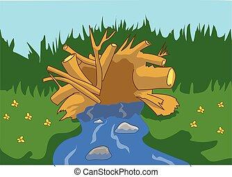 Clip art et illustrations de barrage 954 dessins et for 94 castor eau