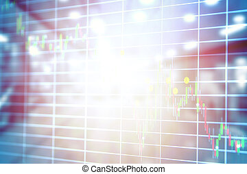 Abstract blurred stock market concept and background