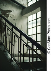 Old Staircases in Old Building