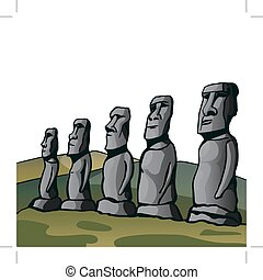 Easter Island. Stone idols. The story of the lost...