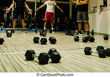group fitness training. Fitness and work out group training.