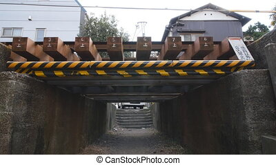 The lowest viaduct in Tokyo - Tokyo, Japan-February 25,...