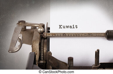 Old typewriter - Kuwait - Inscription made by vinrage...
