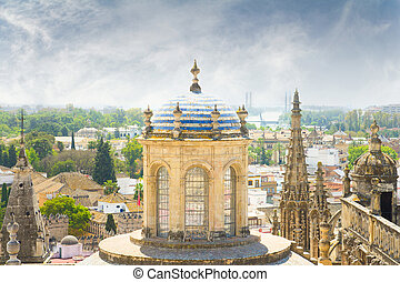 view of seville cathedral