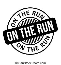 On The Run rubber stamp