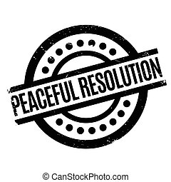 Peaceful Resolution rubber stamp. Grunge design with dust...