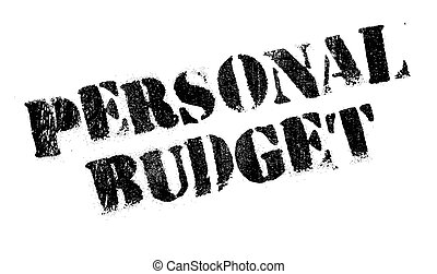 Personal Budget rubber stamp. Grunge design with dust...